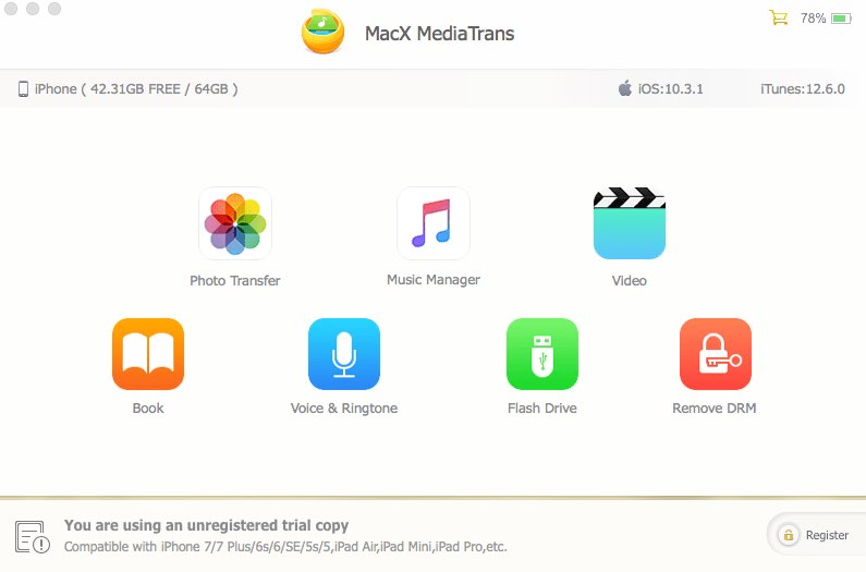 MacX MediaTrans is the fastest and most secure iTunes alternative