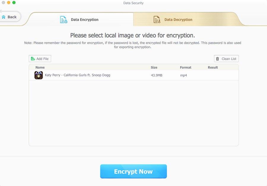 La alternativa de iTunes MacX MediaTrans puede proteger opcionalmente sus archivos utilizando tecnologías de encriptación de grado militar, como AES-256