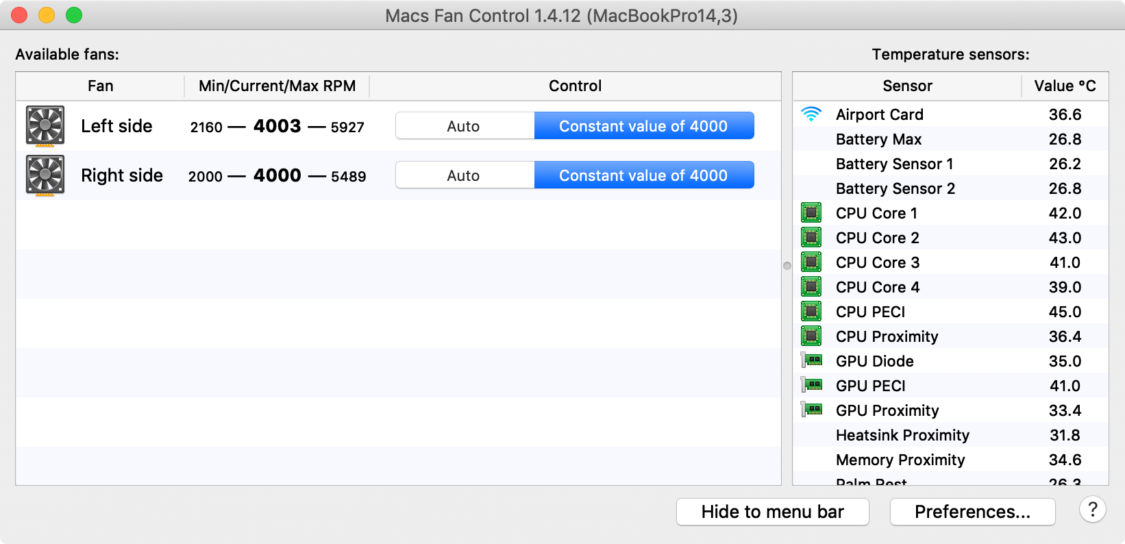 How to manually set your mac's cooling fan speeds.