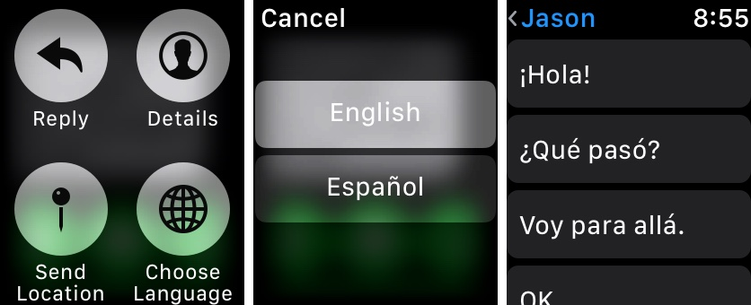 Change keyboard language apple watch