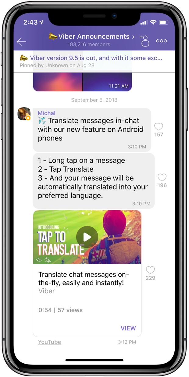 Viber rolling in-chat translation, gains 2x faster