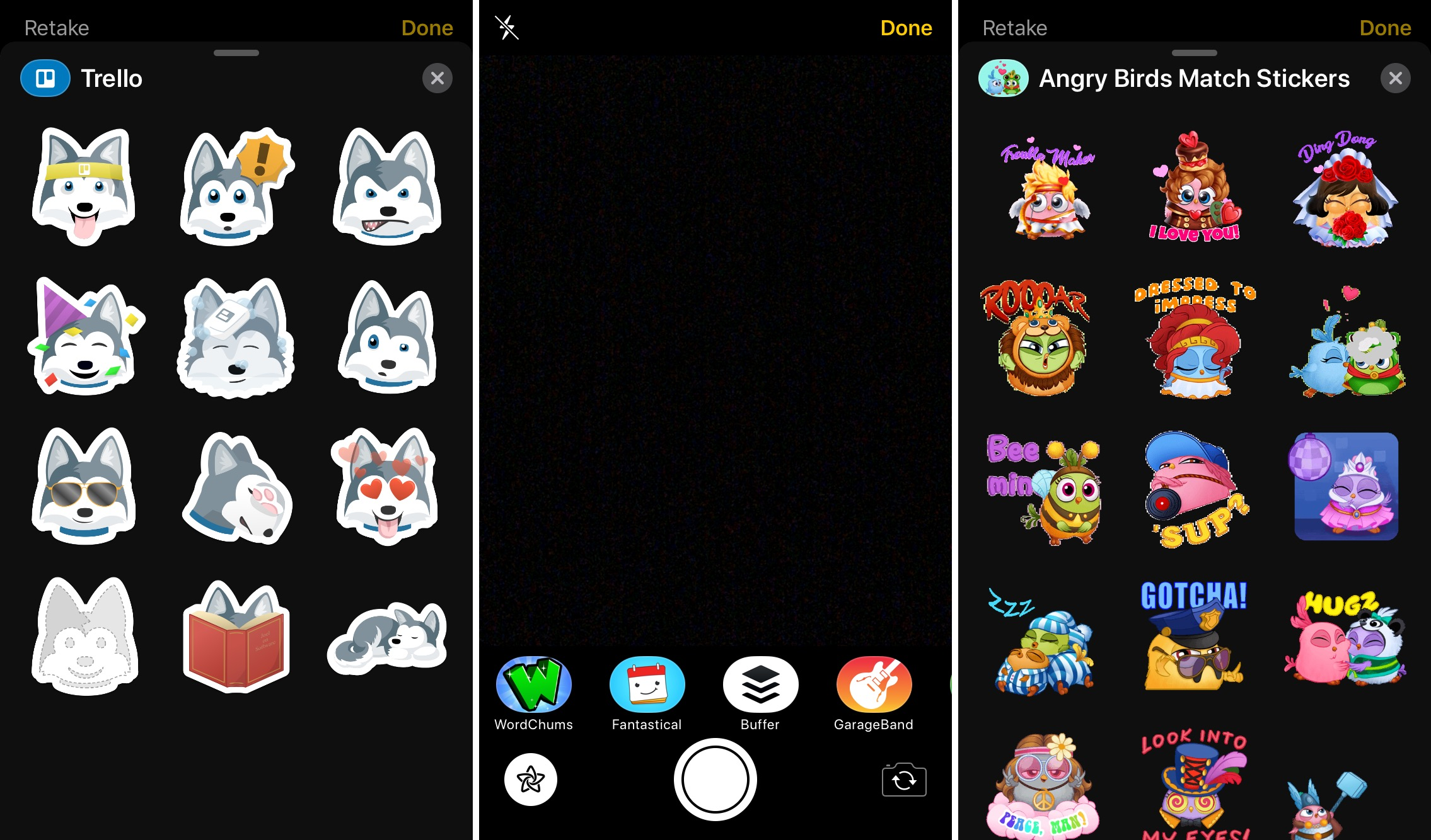 iMessage Stickers Screens