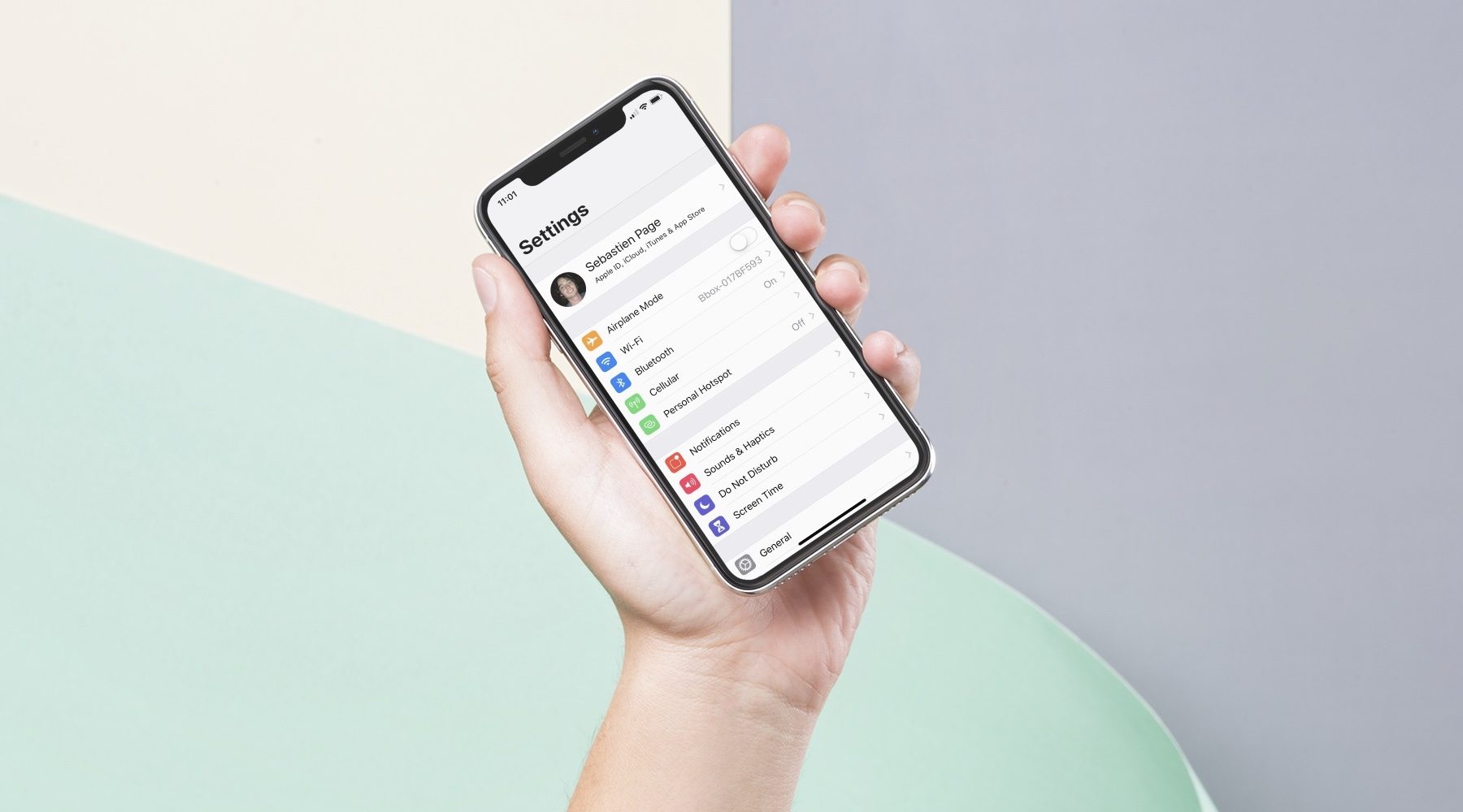 setting up a new iPhone - iPhone X settings