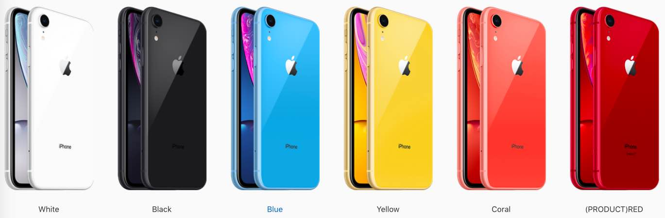 All the iPhone Xr colors