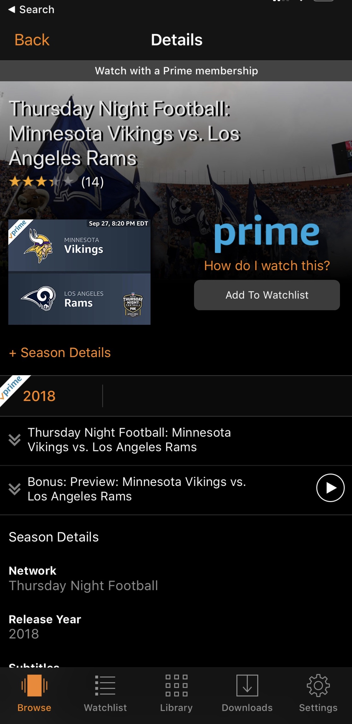 Amazon reveals plans for live streaming Thursday Night NFL