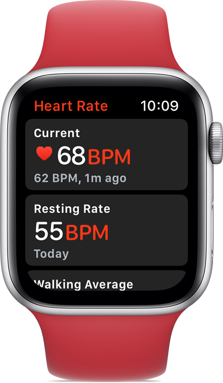 Apple Watch Heart Rate app on Series 4 model