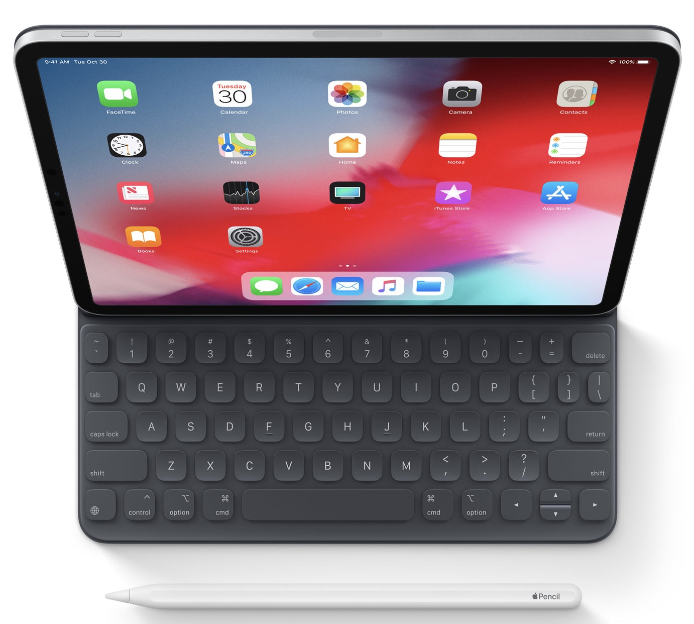 2018 ipad pro accessories include a new smart folio keyboard apple pencil and more. Black Bedroom Furniture Sets. Home Design Ideas