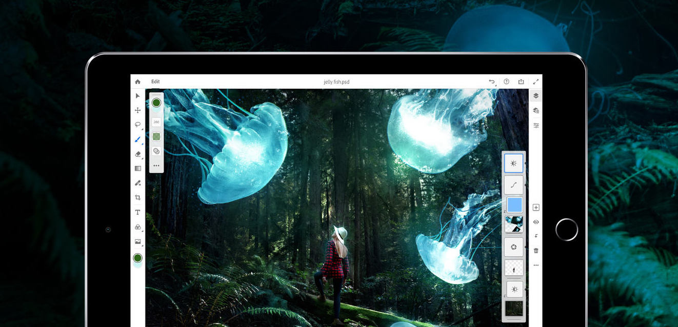 Adobe previews Photoshop CC for iPad with desktop sync, arriving in 2019
