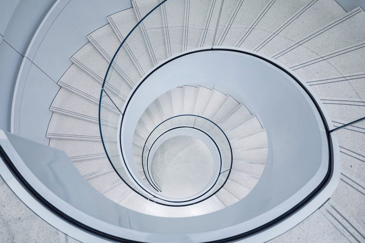 Check out the glass spiral staircase in Apple's renovated