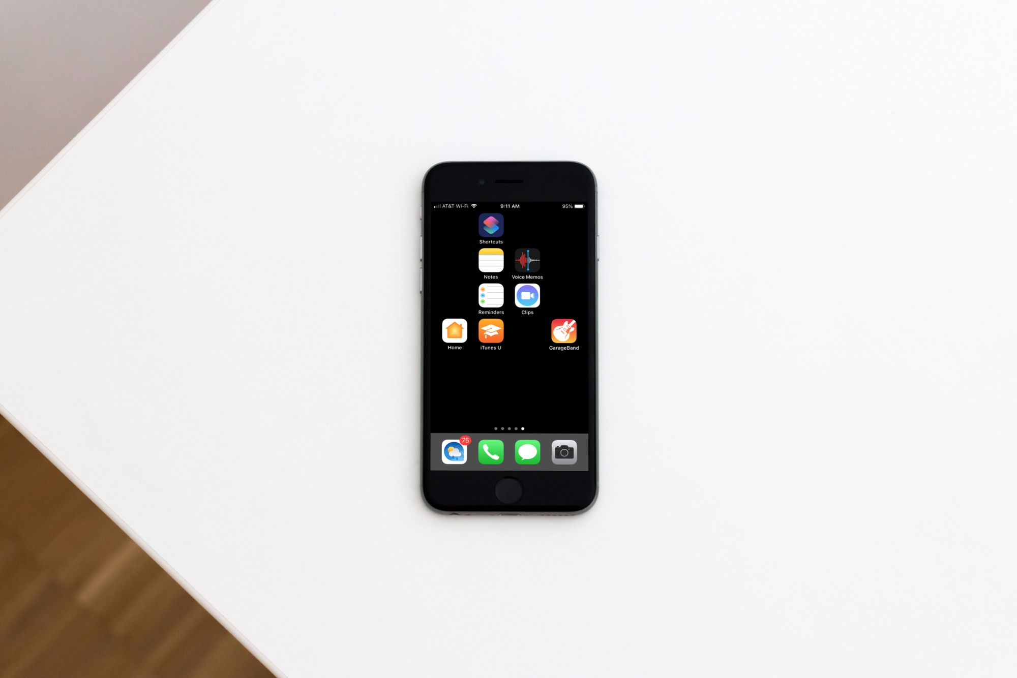 Blank Icons on iPhone on Desk