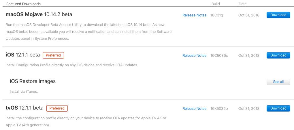 ios 12 beta 1 download profile