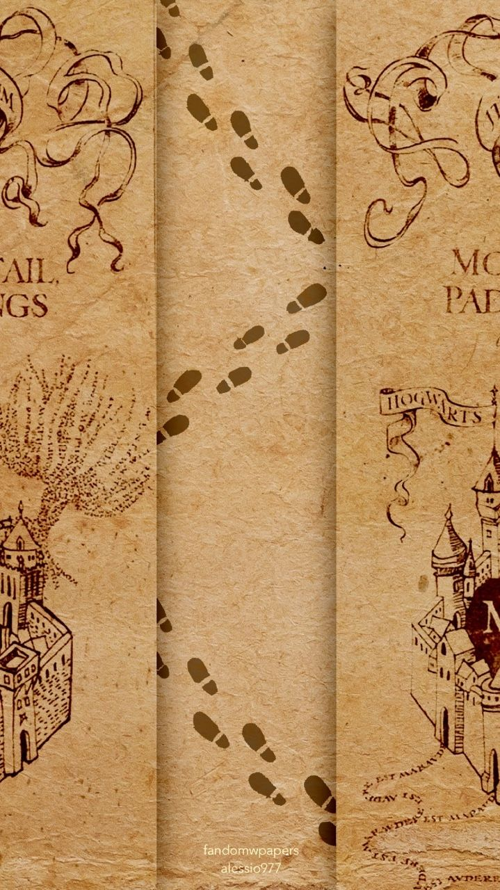 Harry Potter map iphone wallpaper