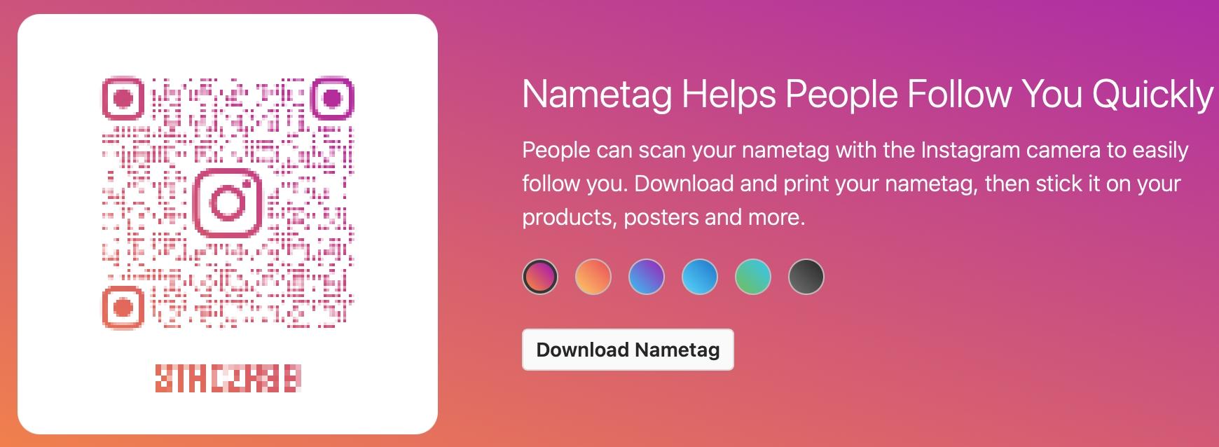 Instagram Create Nametag Online