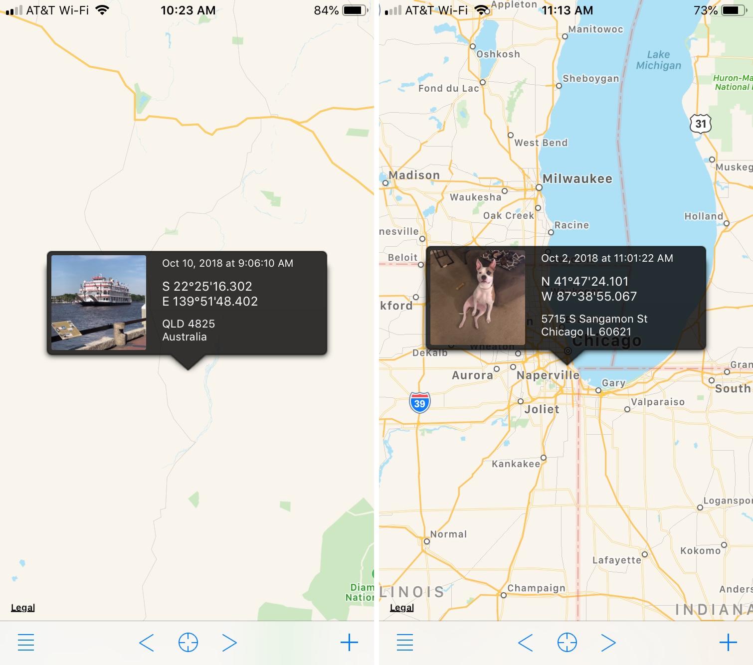 Koredoko Results of Geolocation Change iPhone