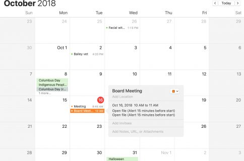 how to add facebook events to iphone calendar and delete them too
