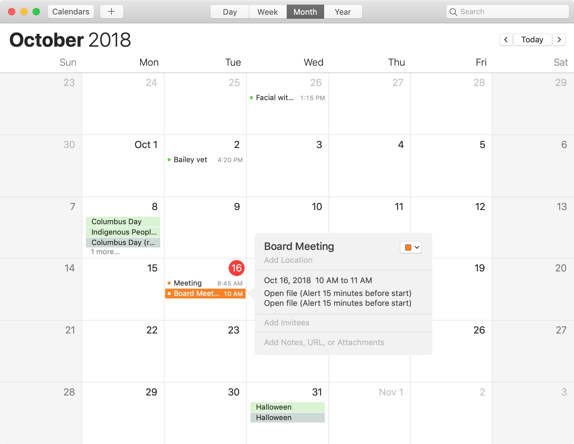 mac calendar open file alerts set