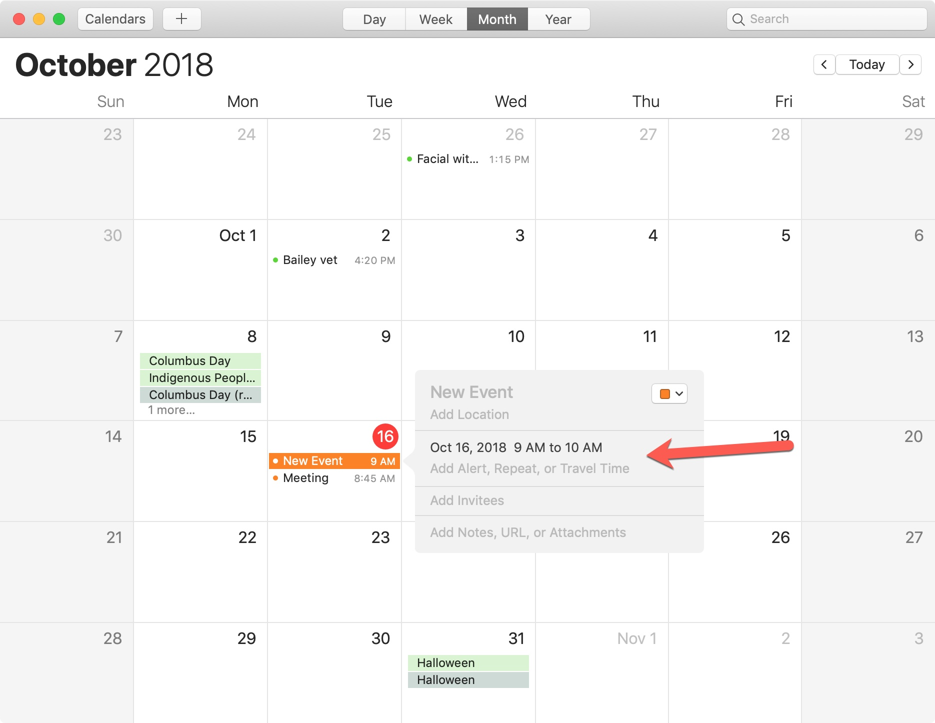 how to set an alert for pay on calendar