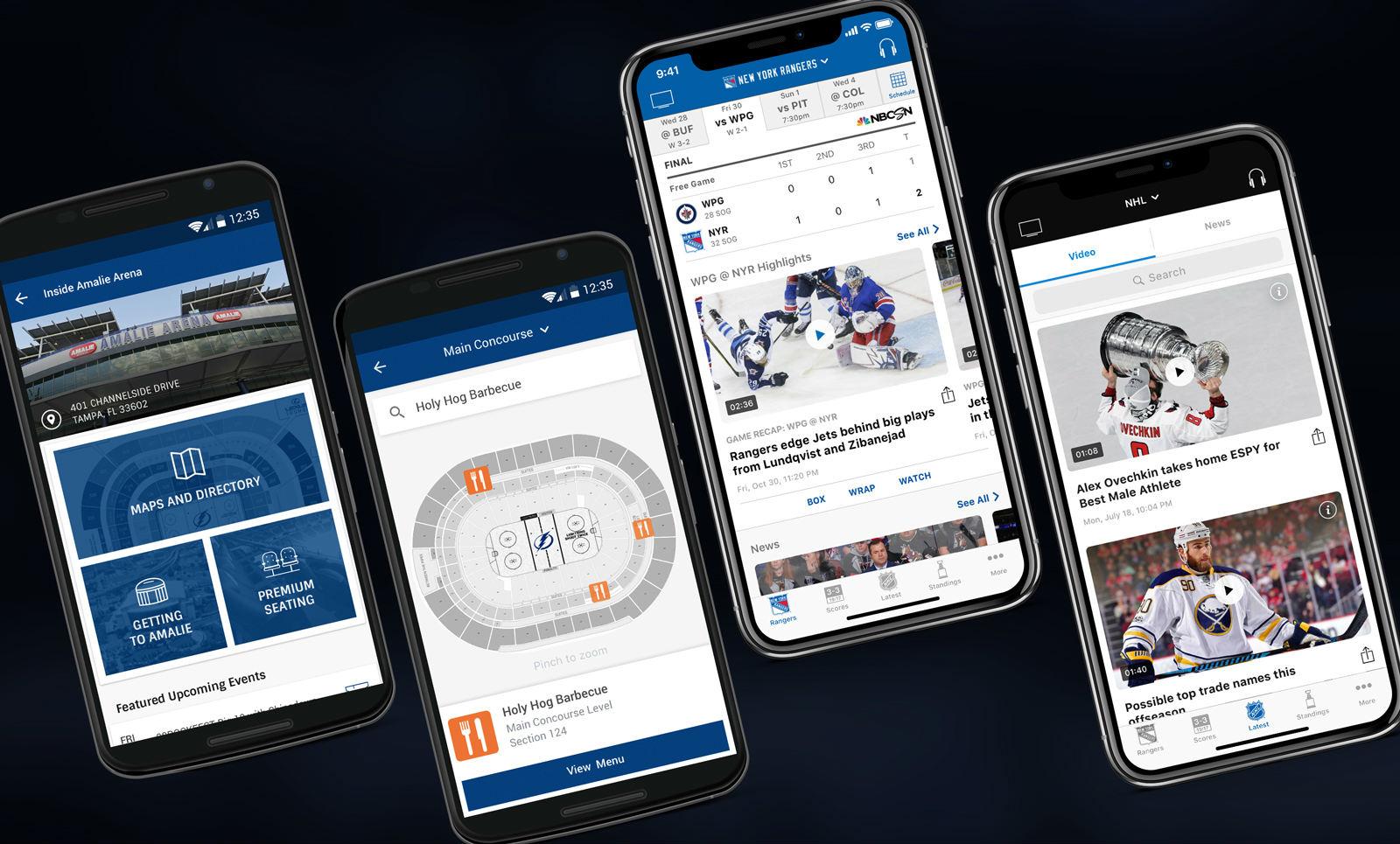 Aplicación NHL para iPhone: nuevas funciones