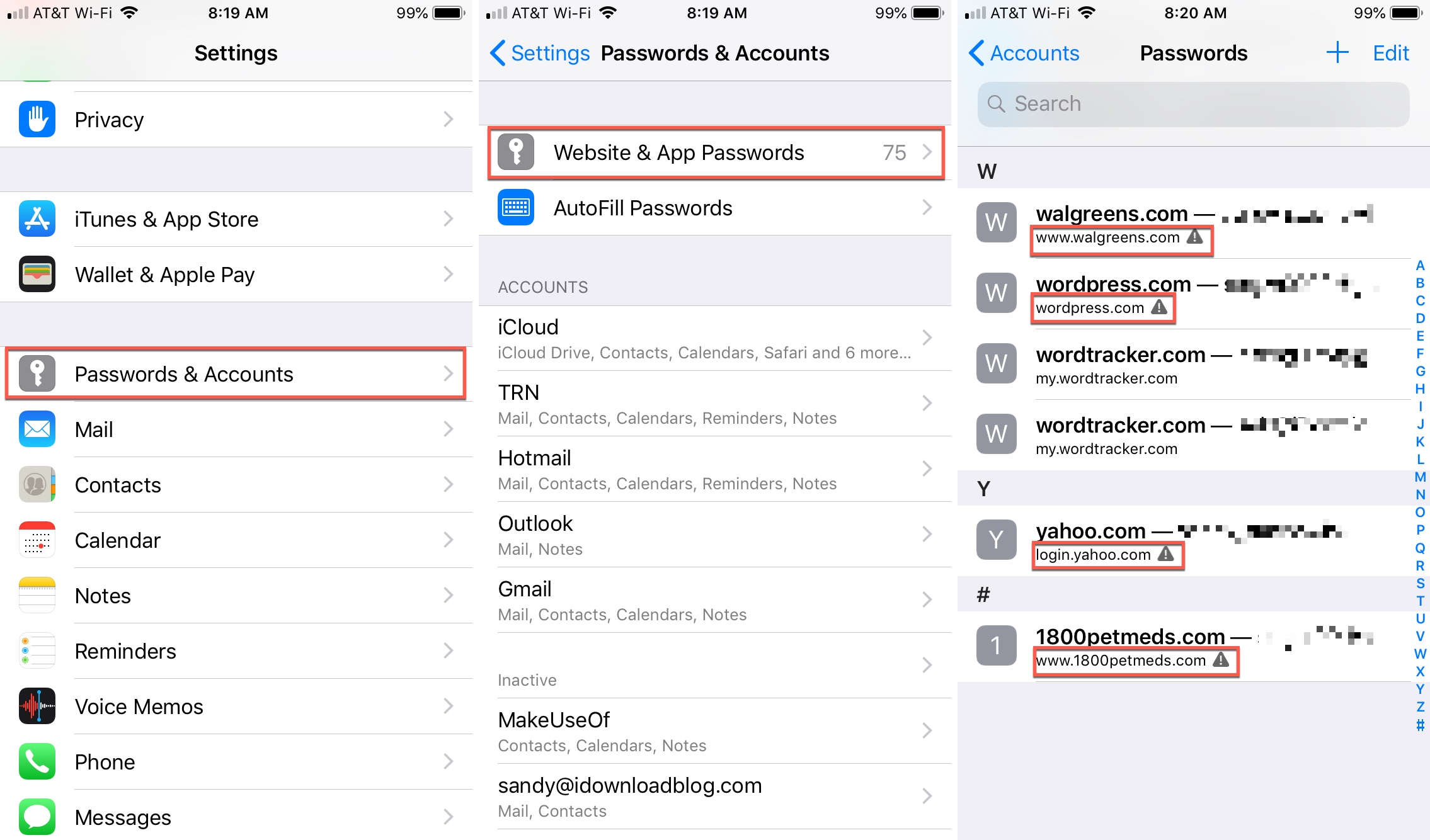 Password Auditing on iPhone