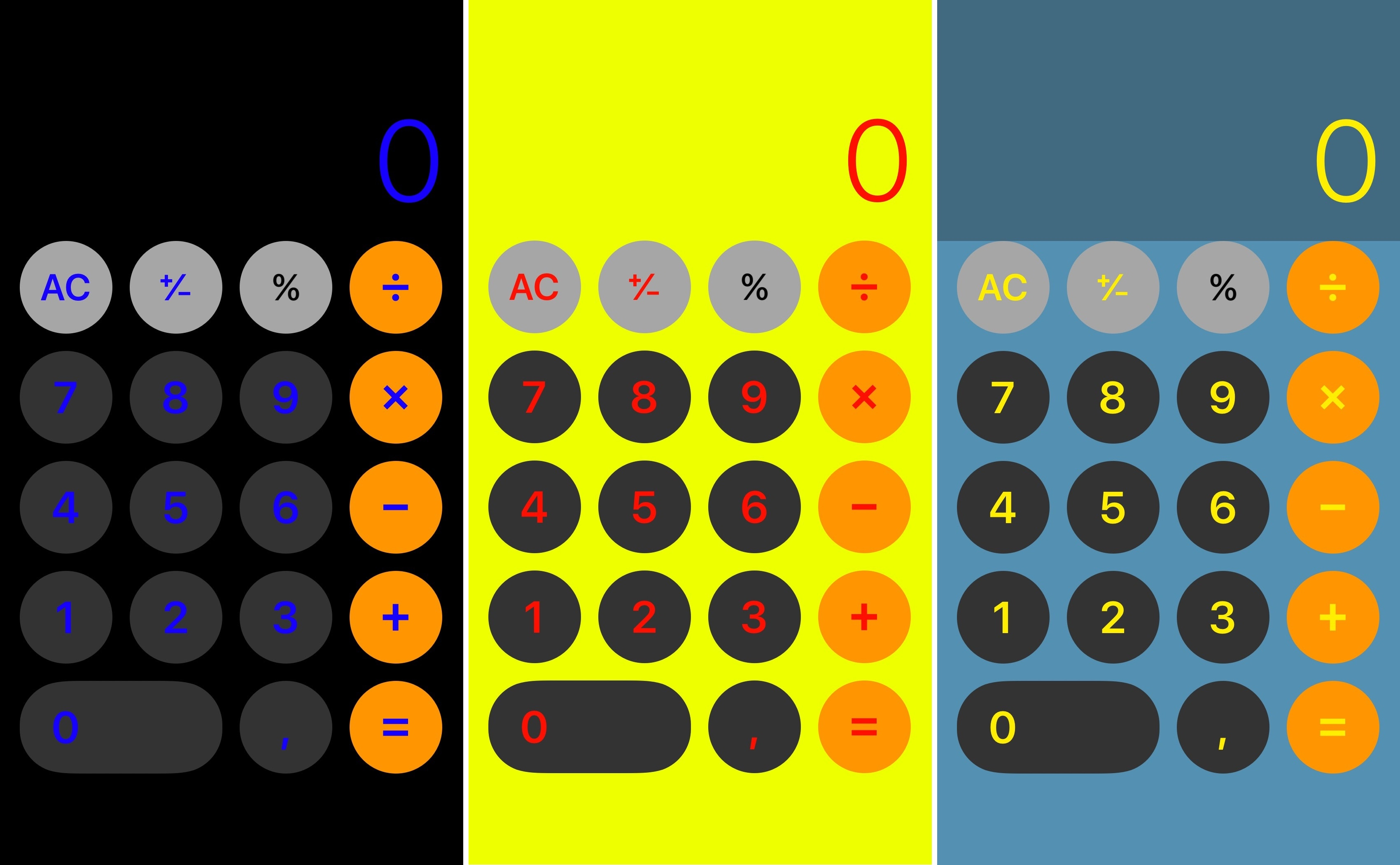 390451650a iOS' native Calculator app has received a bevy of revamps over the years,  but one thing Apple keeps the same with every iteration is that signature  black ...