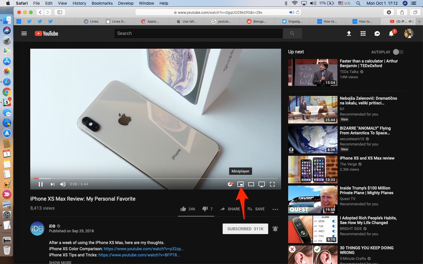 The new miniplayer on YouTube lets you watch video in picture-in-picture mode while browsing the site