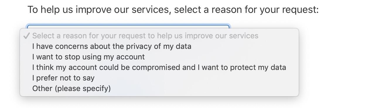 Delete Apple Account Reasons