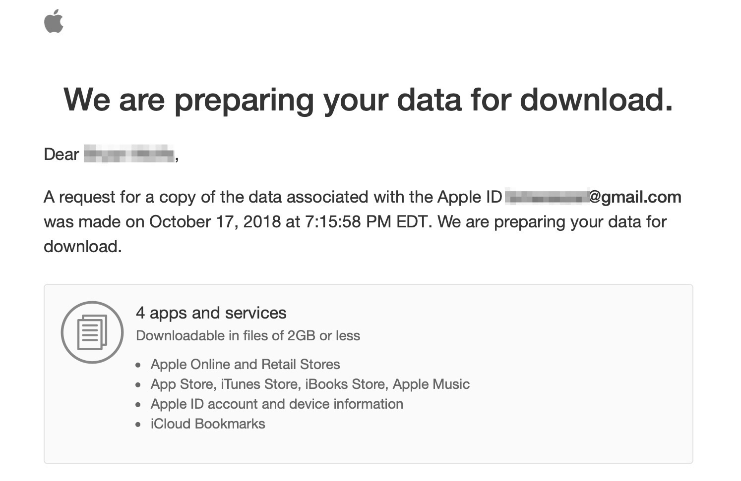 preparing your data for download