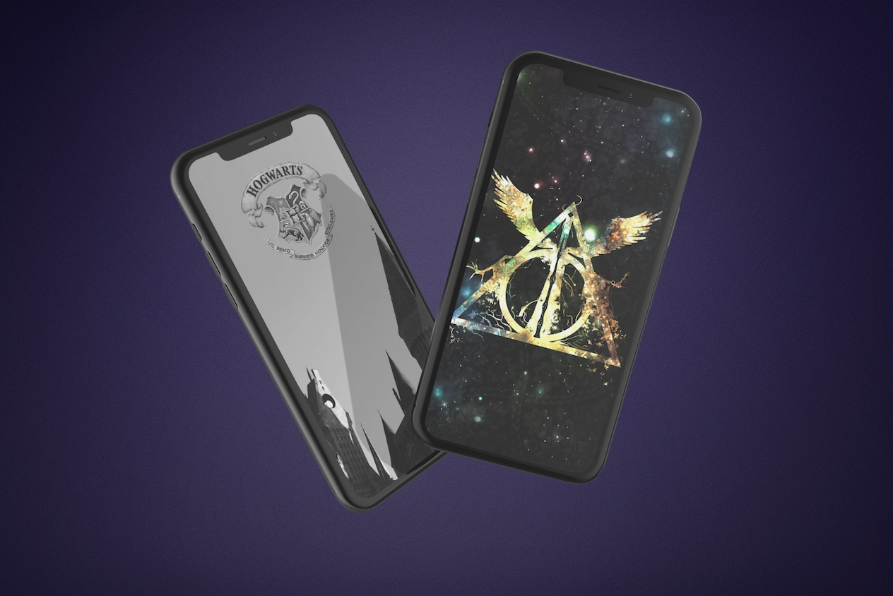 Harry Potter iPhone wallpapers mock up