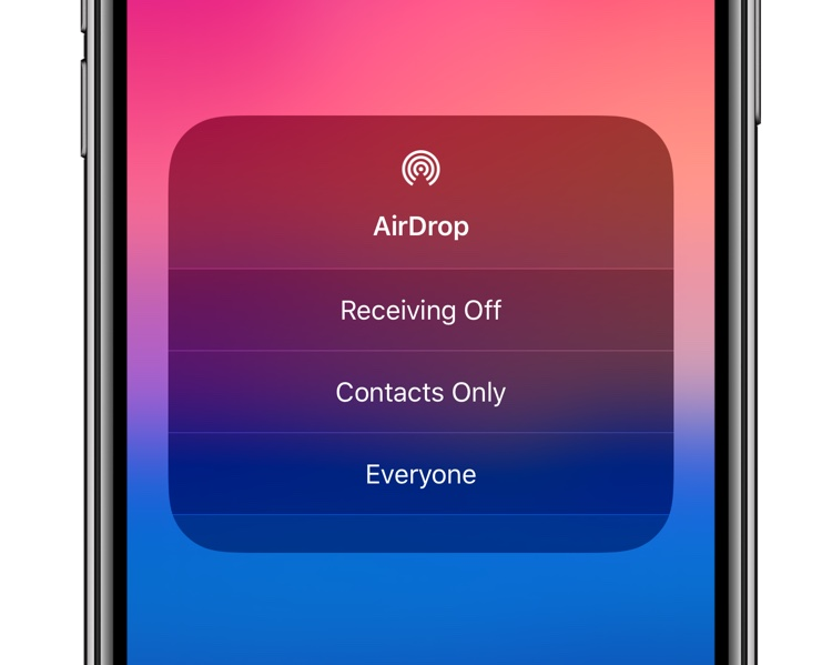 AirDrop visibility and receiving options in Control Center - hero image