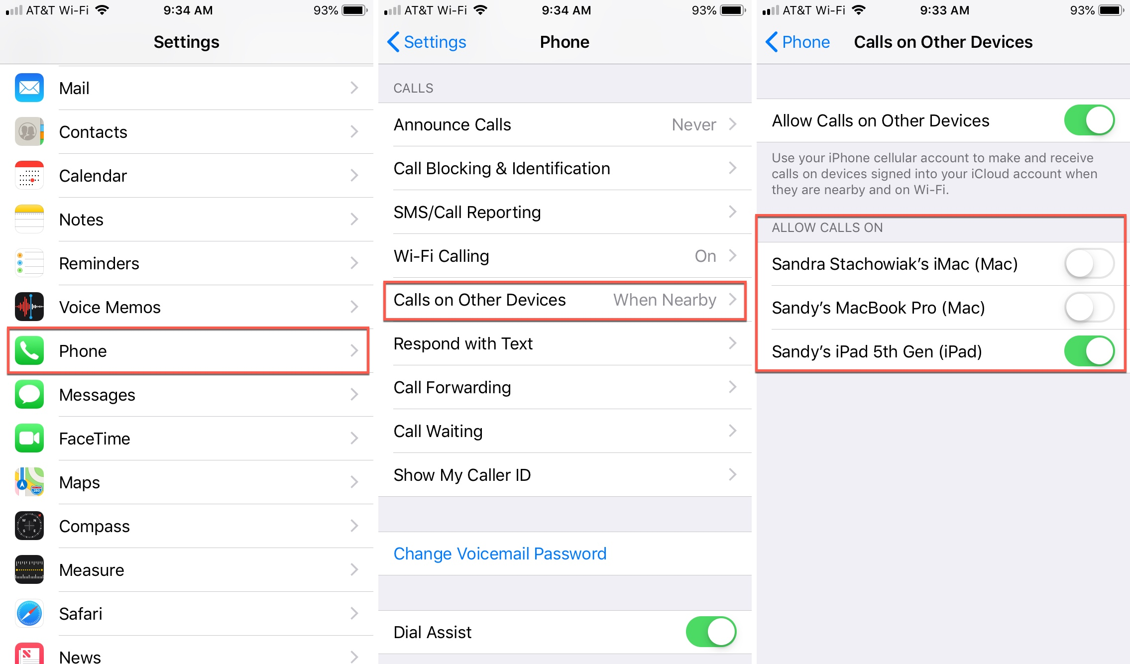 get iphone calls on other devices