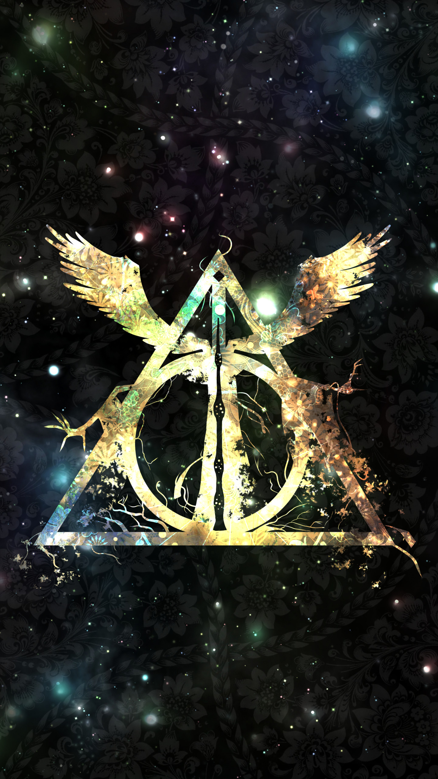 harry potter iphone wallpaper New Harry Potter And The Deathly Hallows Symbol Wallpaper Wide
