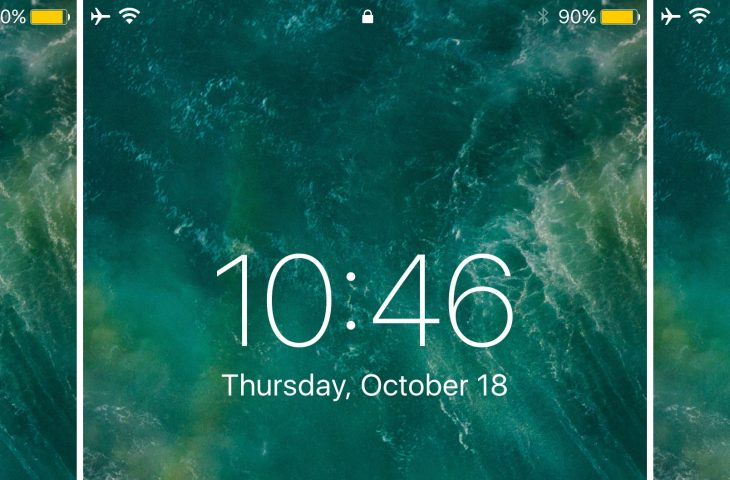 Relocate the Lock screen's date and time indicator with