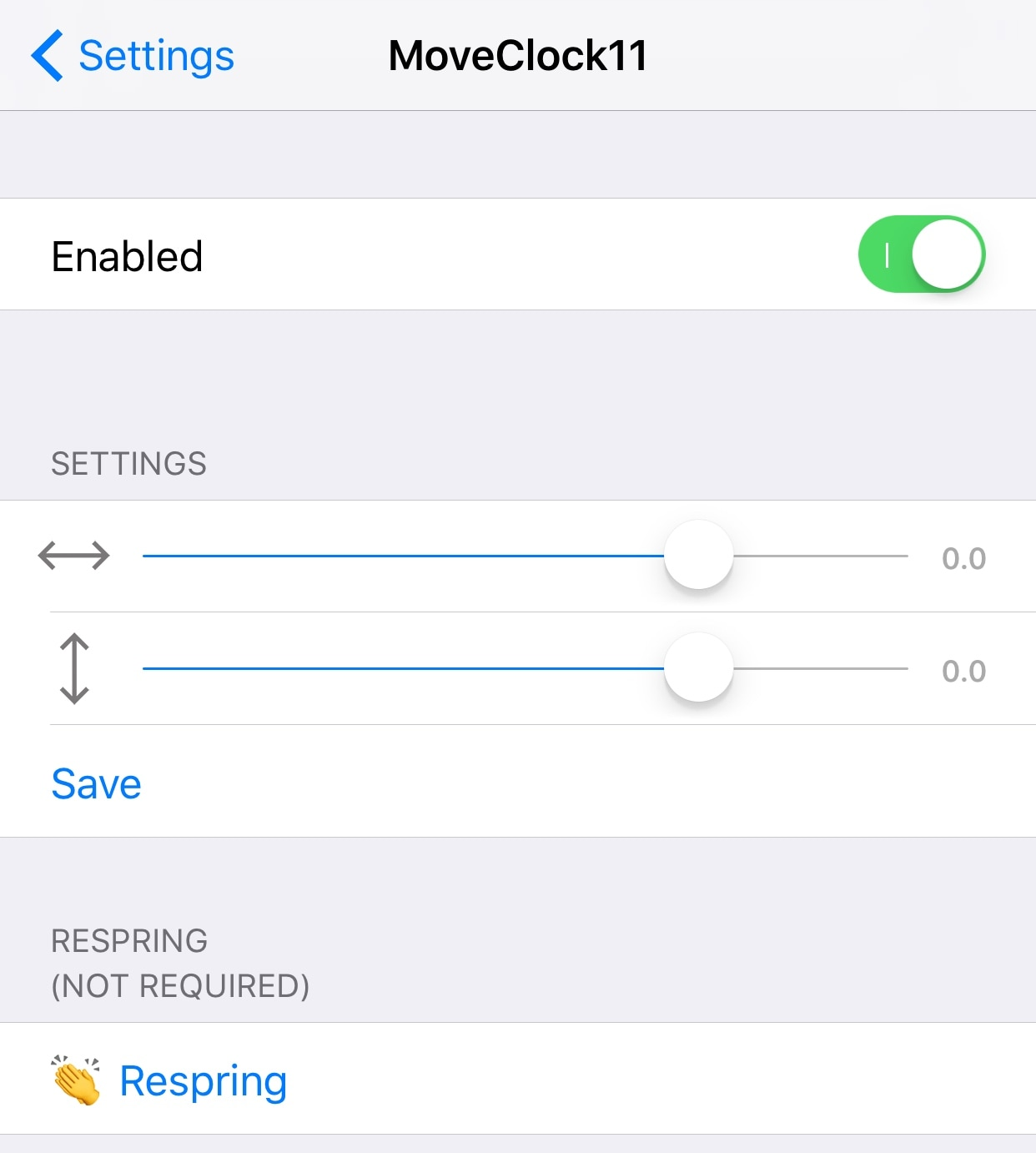 Relocate the Lock screen's date and time indicator with mcClock11