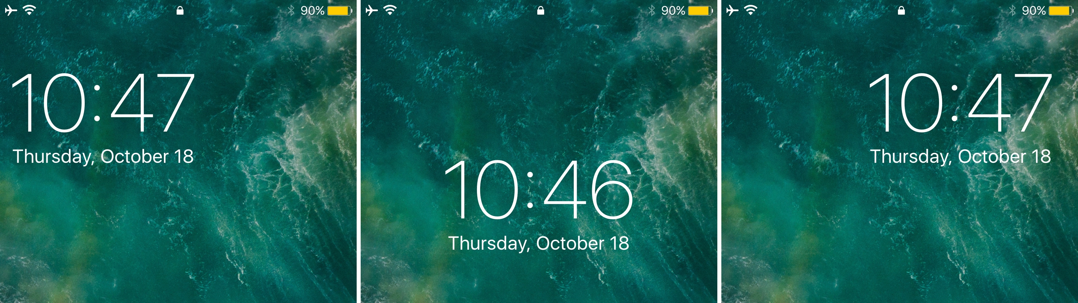 Relocate The Lock Screen S Date And Time Indicator With