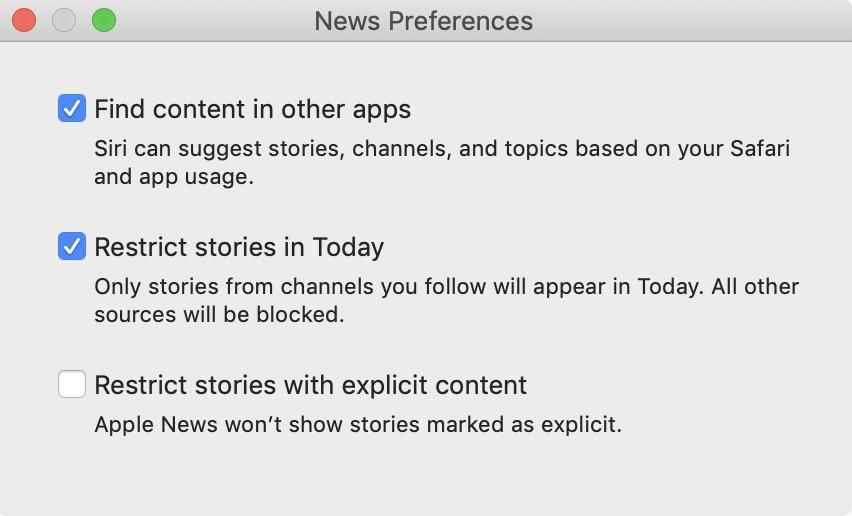news app preferences