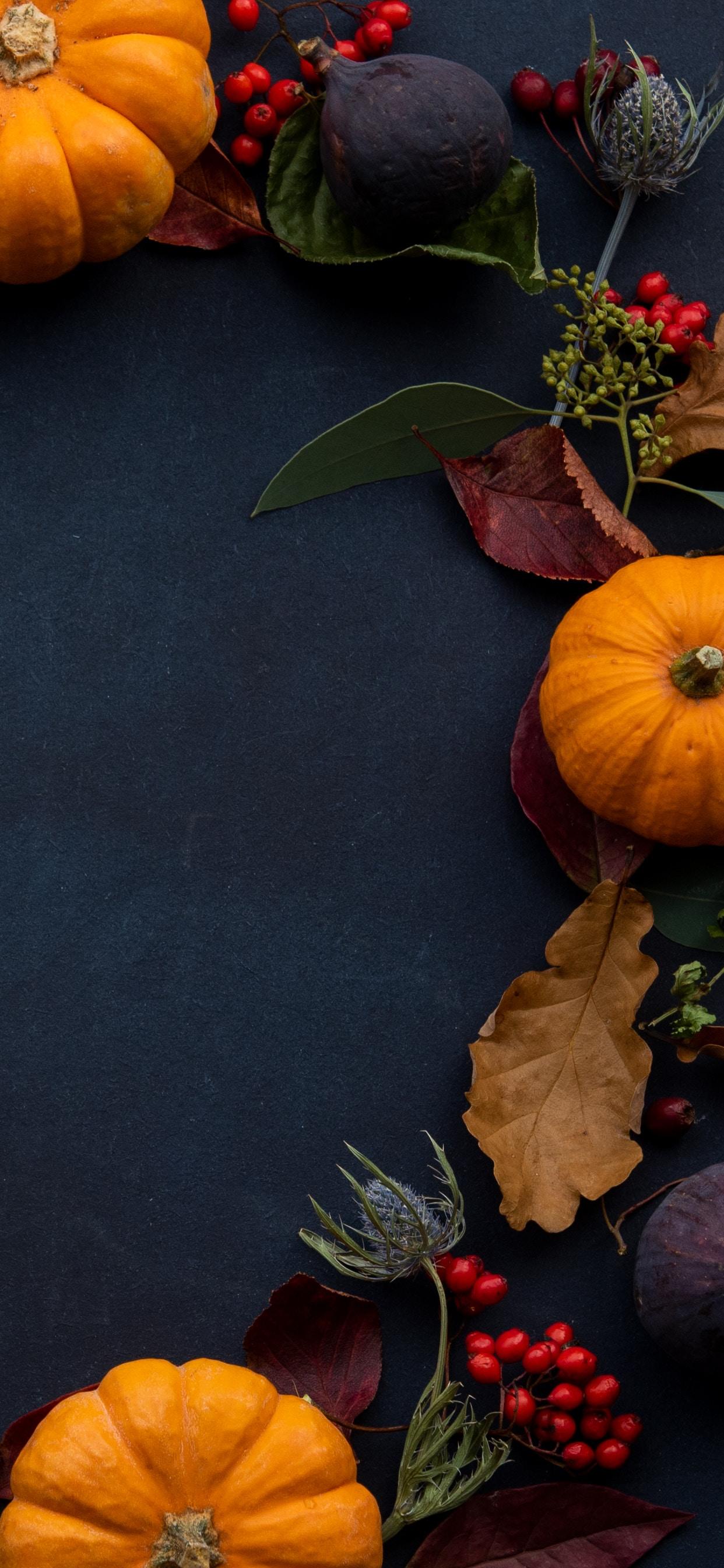 Orange Pumpkin Wreath Fall iPhone X XS Max Autumn