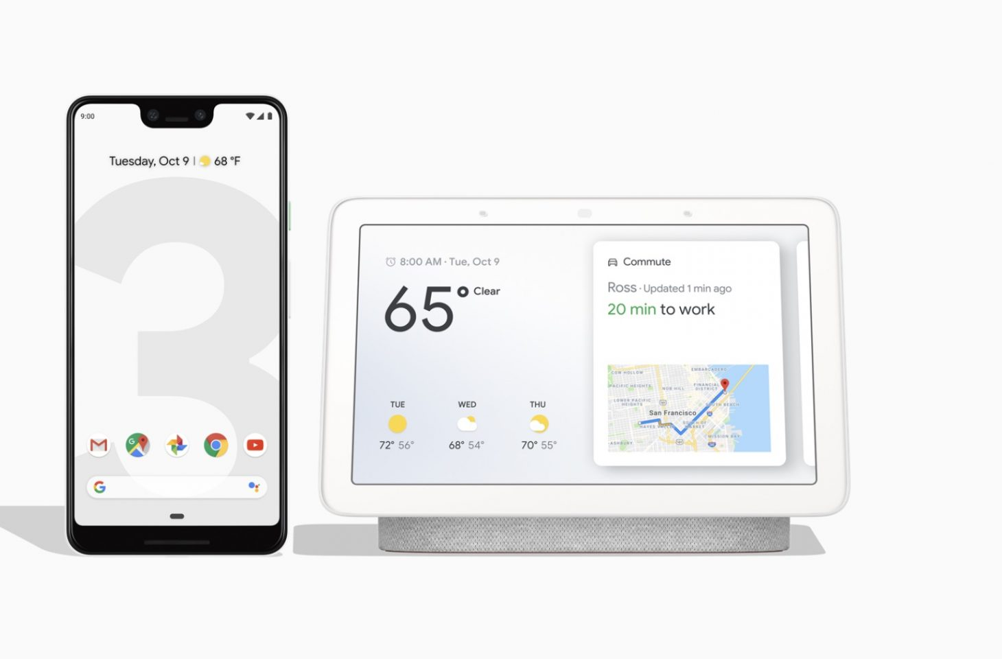 Pixel 3 and Home Hub