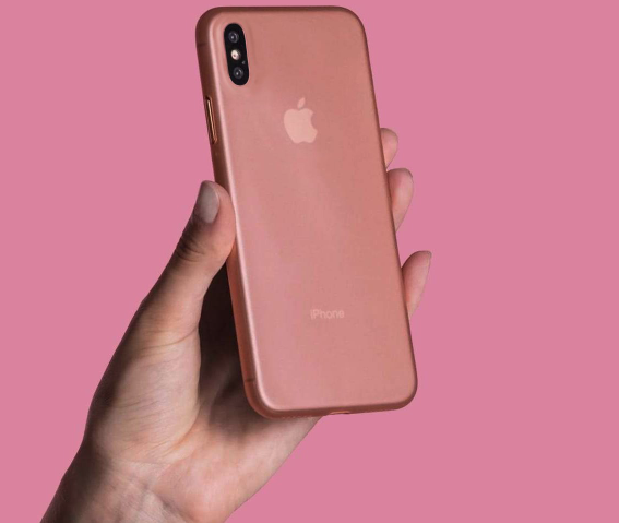 rose gold ultra-thin peel iphone xs max case