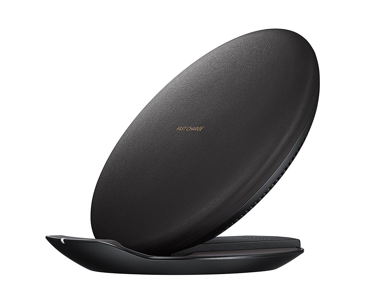 samsung black round wireless charging pad