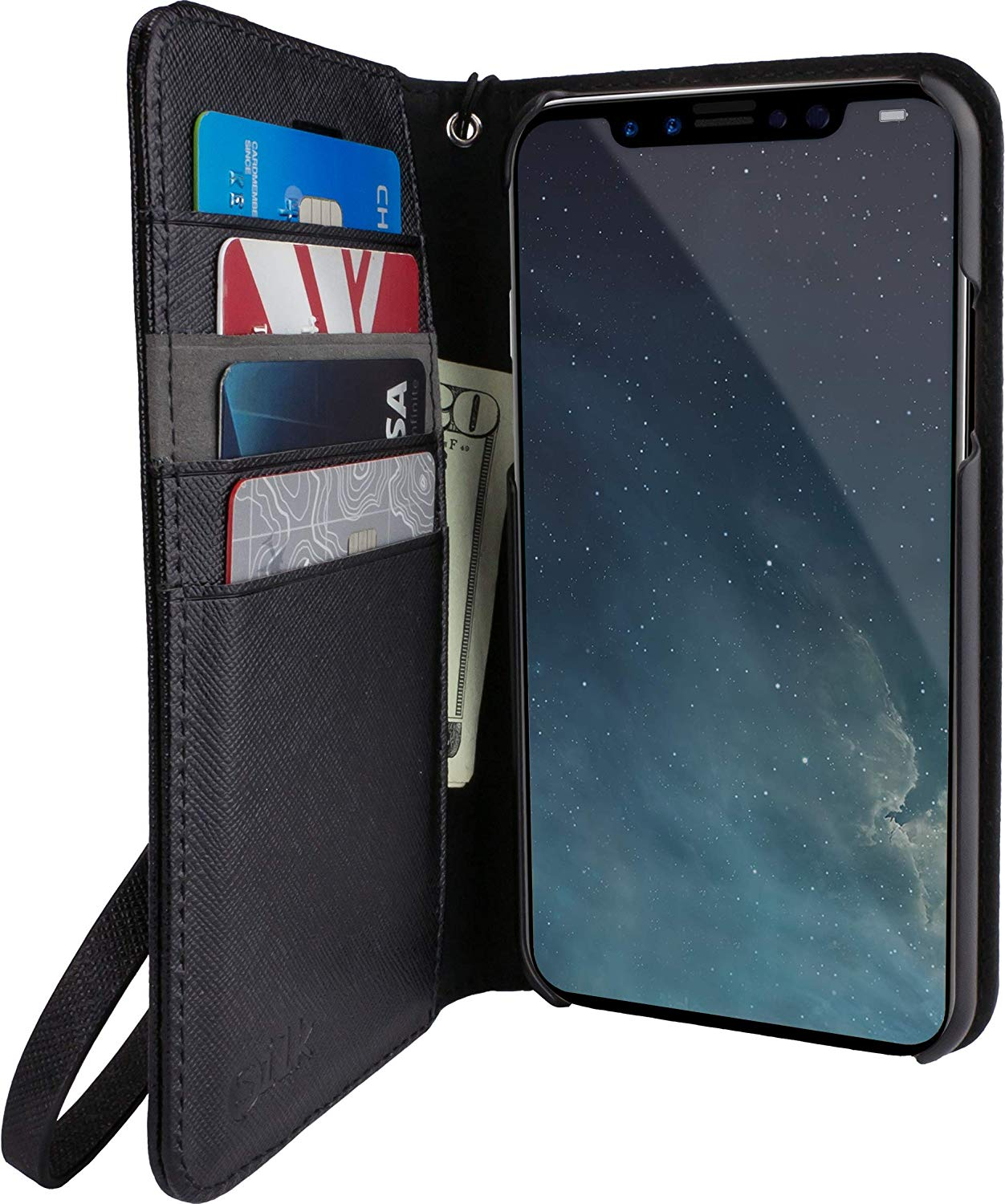 silk portfolio black best wallet cases for iPhone XR