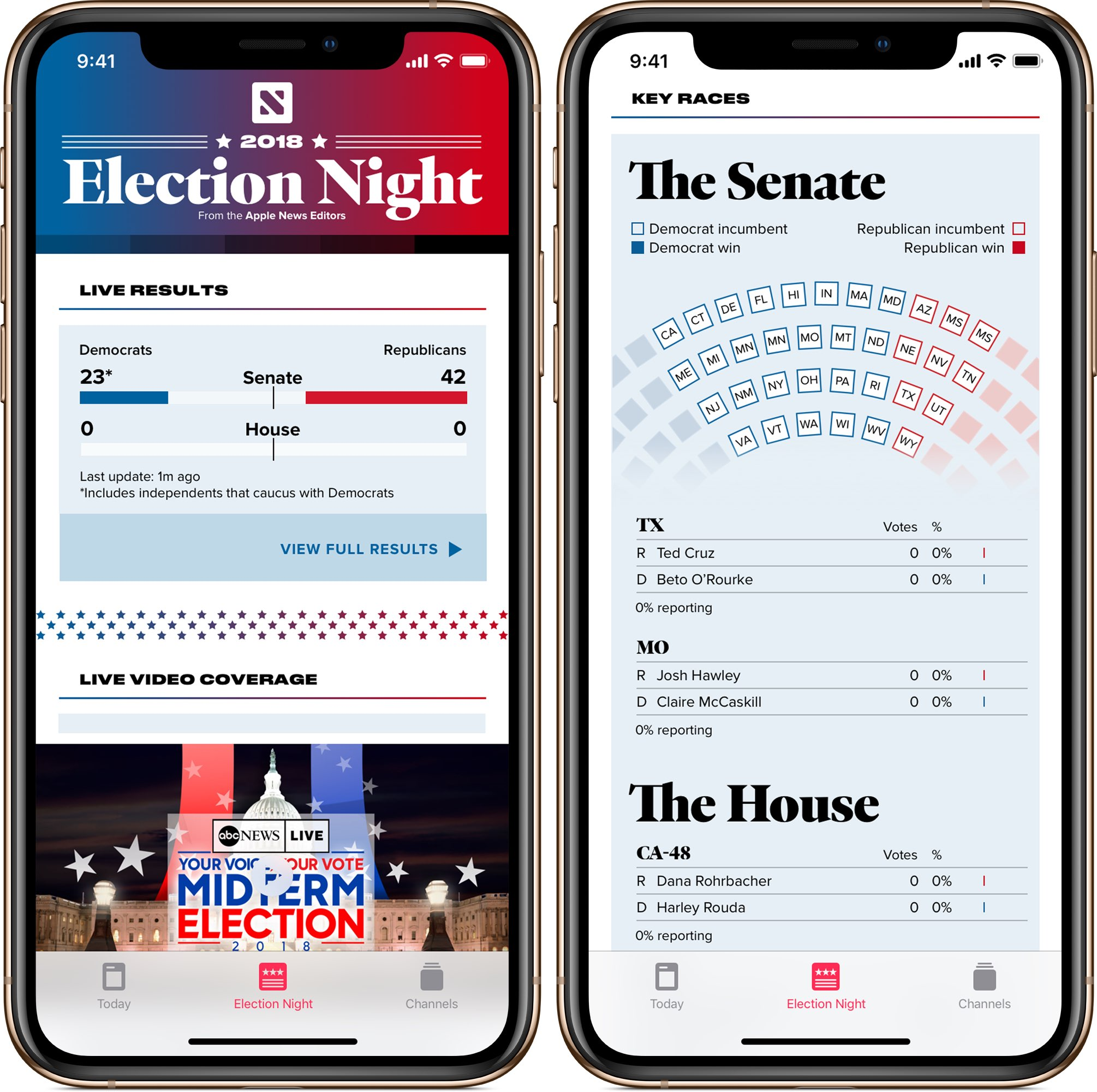 Apple News to serve real-time election results