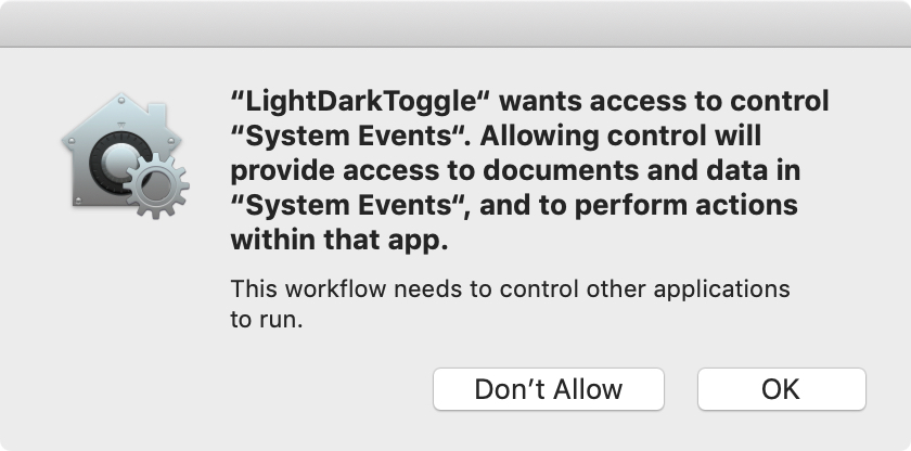 Automator Toggle Accept Changes