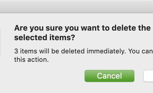 Confirm Delete Files on Mac Immediately