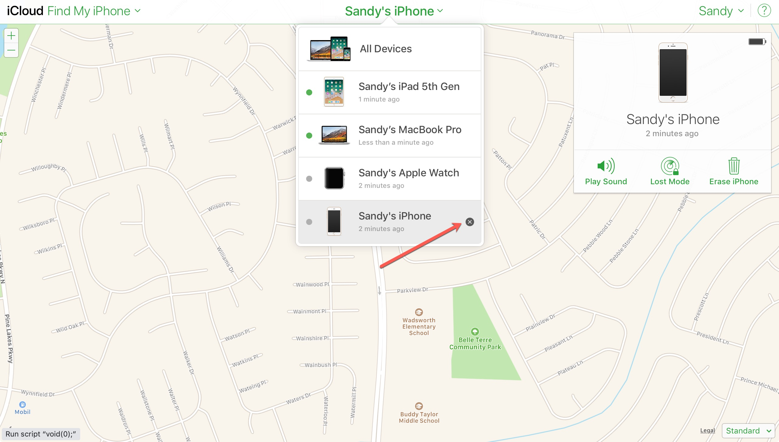 Find My iPhone on iCloudDotCom