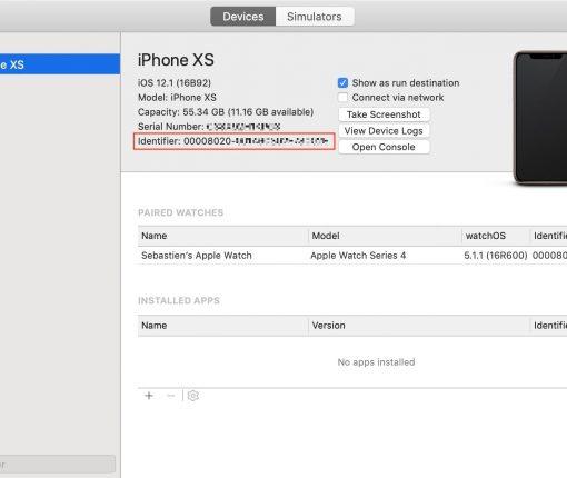 Get iPhone XS UDID