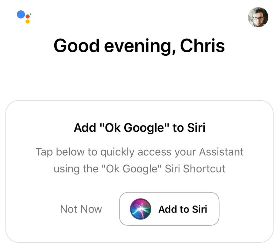 Google Assistant now supports Siri Shortcuts