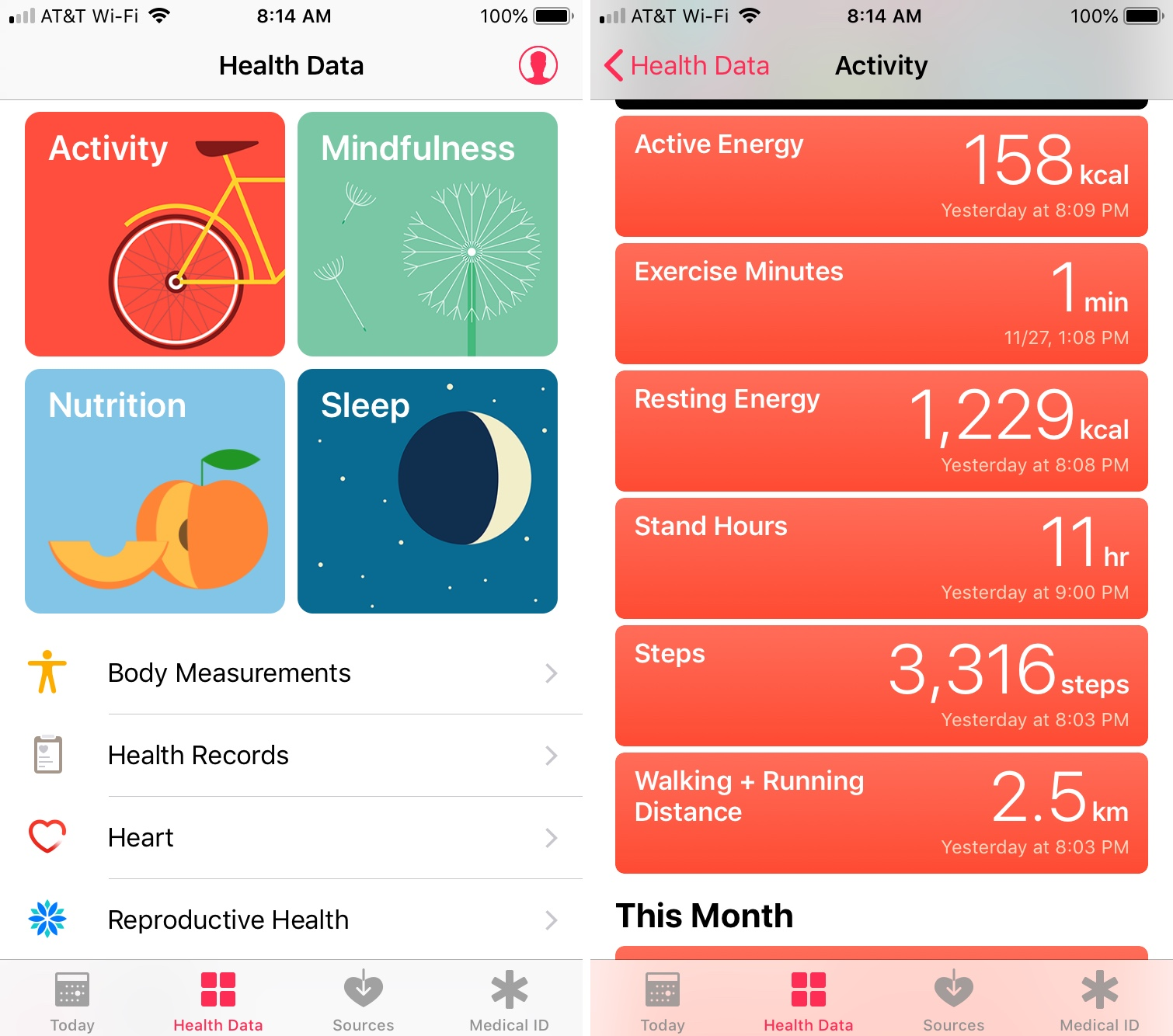Health App Activity Steps iPhone
