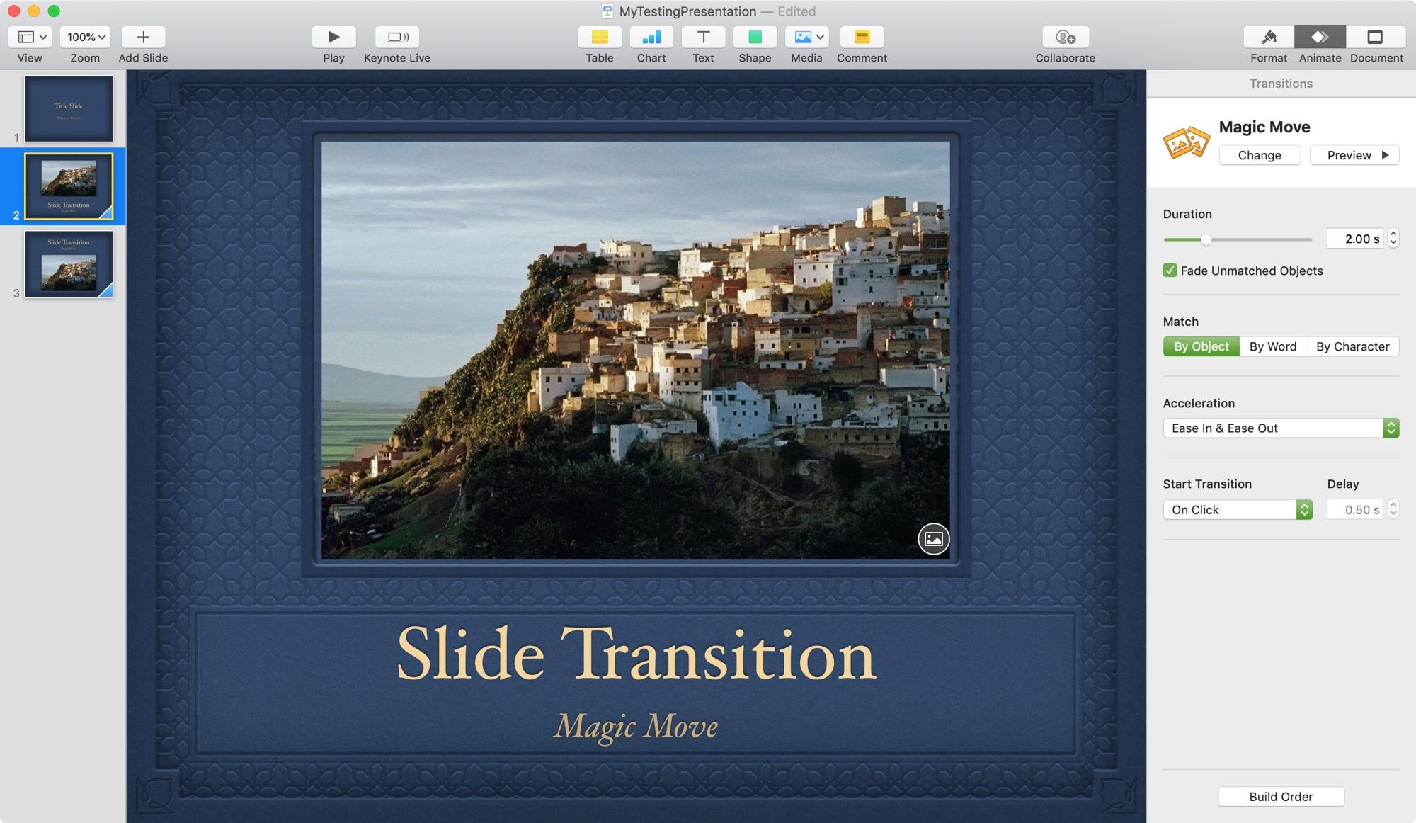 Keynote Magic Move Animation Sidebar