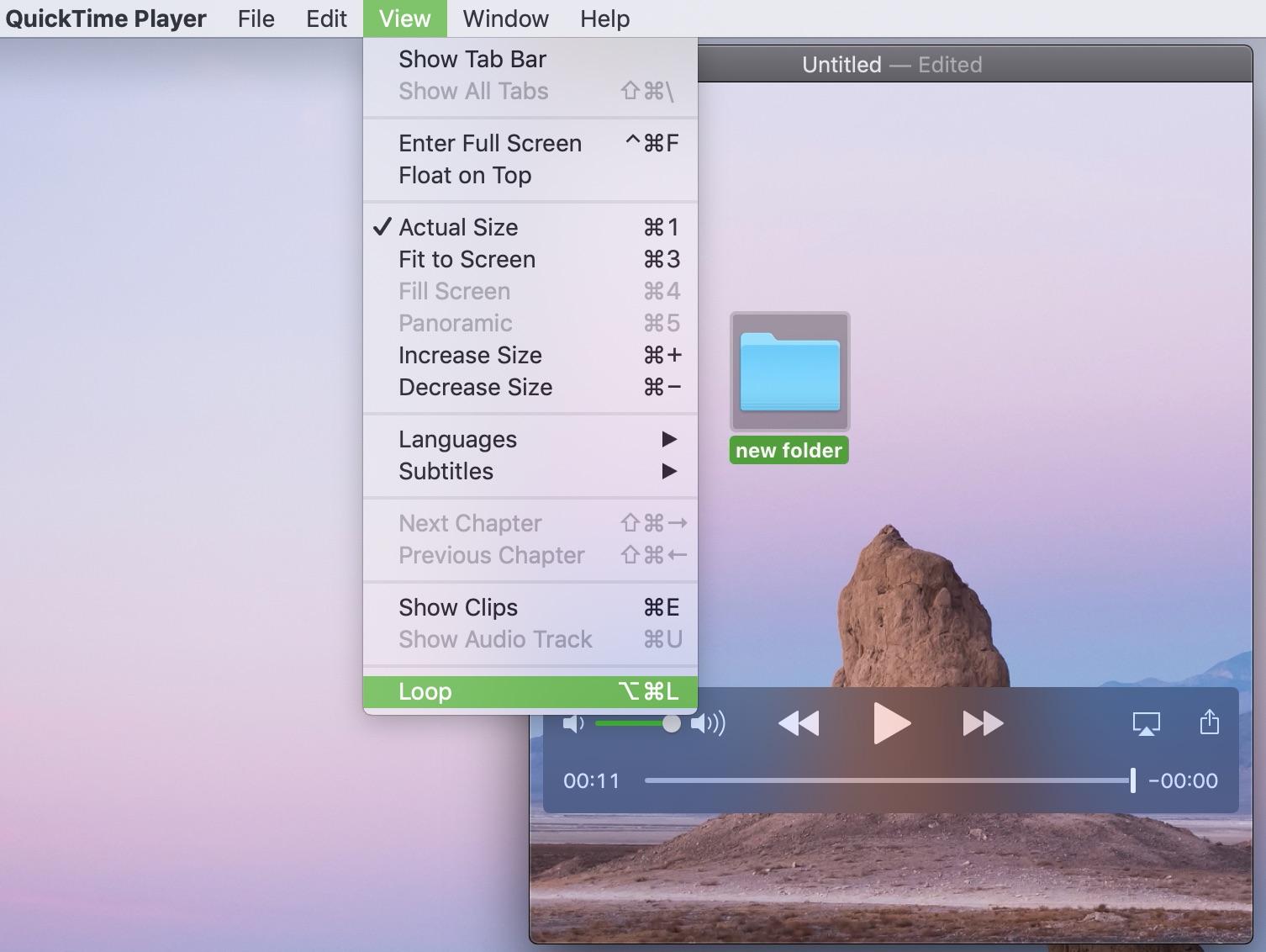 Loop QuickTime Video Mac