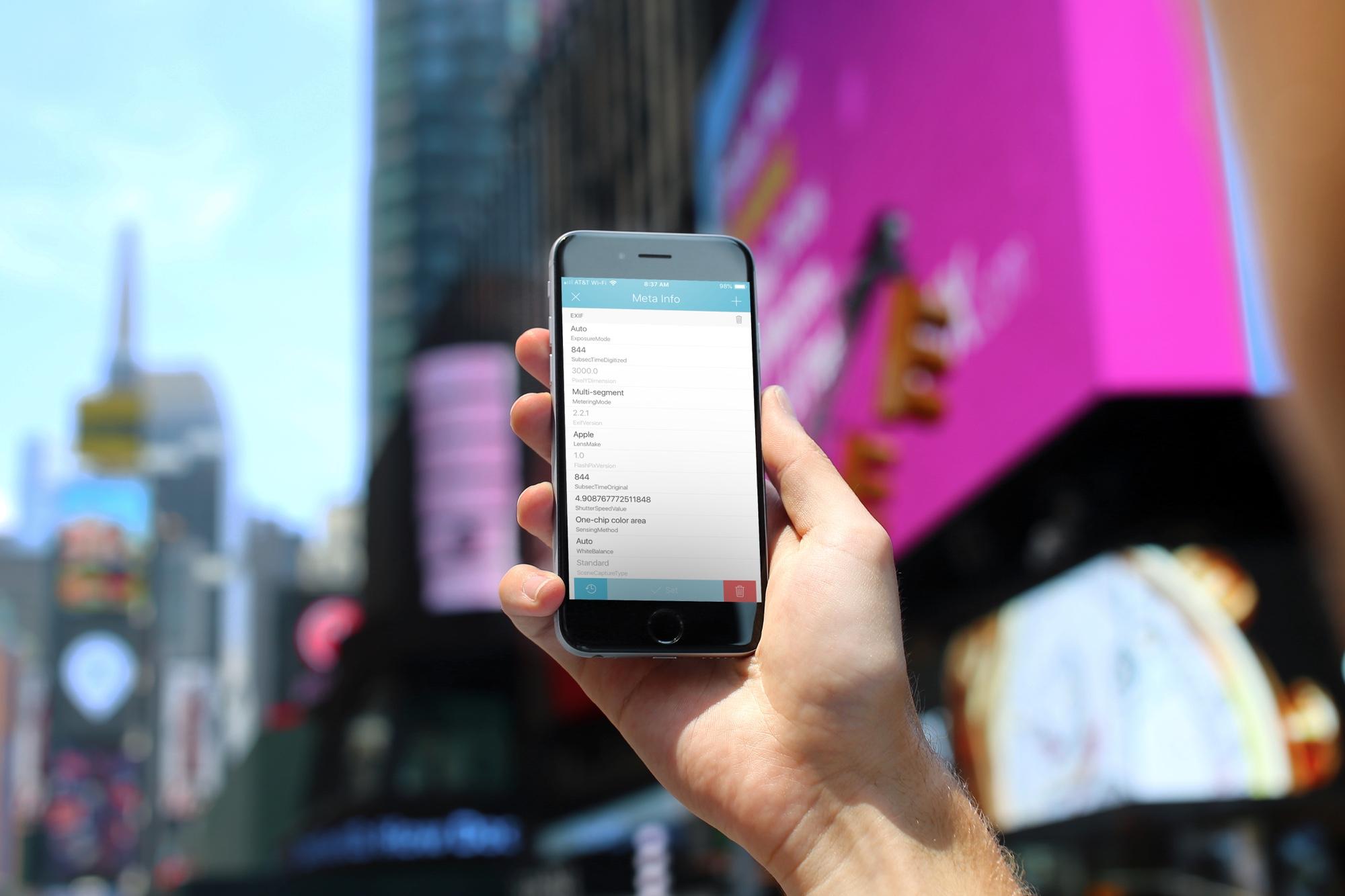 MetaTrixter for iPhone Change Photo Metadata